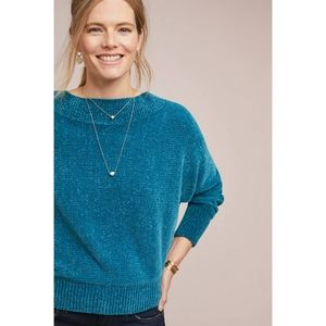 Michael Stars Boatneck Chenille Knit Sweater